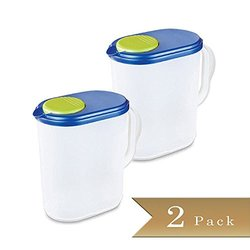 TrueCraftware 1 Gallon Pitchers with Ultra Seal and Pivot Spout - Set of 2