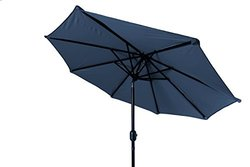 Trademark Innovations 7' Tilt Crank Patio Umbrella - Blue