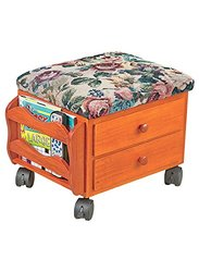 CWG Rolling Foot Rest with Extra Storage