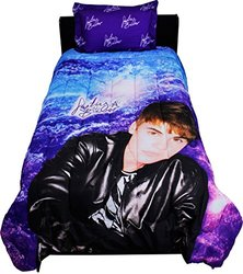 Justin Bieber Concert Purple Twin Comforter Sham Bedding Set