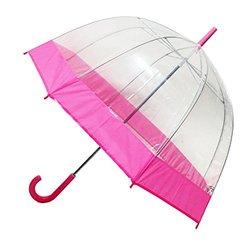 Bubble Transparent Umbrella - Pink/Clear (1256 pink)