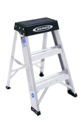 Werner 150B 300-Pound Duty Rating Aluminum Step Stool 2-Foot