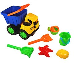 Sand Dump Truck Bucket Set -  6 Accessory Pieces - Colors May Vary
