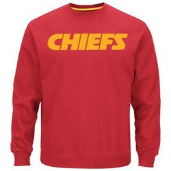NFL Kansas City Chiefs Men's Field Goal Fleece Crew T-Shirt - Large