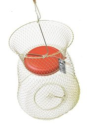 KUFA Floatable Galvanized Wire Fish Basket (Medium/13 x 18-Inch)