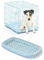 "iCrate Midwest 24""x18""x19"" Single Door Dog Crate with Matching Pet Bed"
