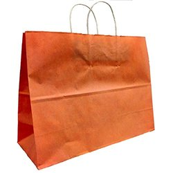 Kraft Shopping Bags - Terra Cotta - SIze: 16 W x 12 H x 6 T - Pack of 25