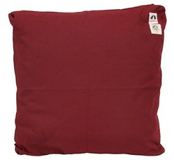 Zabuton Cushion: Kapok-filled, 100% Organic Cotton Cover Meditation Cushion (Burgundy, Medium 24 X 24)