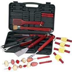 Chefmaster KTBQ192 19-Piece Barbeque Tool Set with Carrying Case