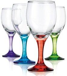 Klikel Carnival 10oz Assorted Colored Wine Glasses - Set of 8