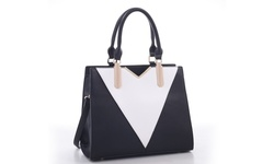 MKF Collection Sharron Designer Handbag - Black/White