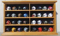 Pocket Pro Mini Football Helmet Display Case Cabinet Holders Rack w/ UV Protection MH07-OA