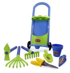 Liberty Garden Cart & Gardening Tools for Kids with Rake/Shovel/Bucket Set
