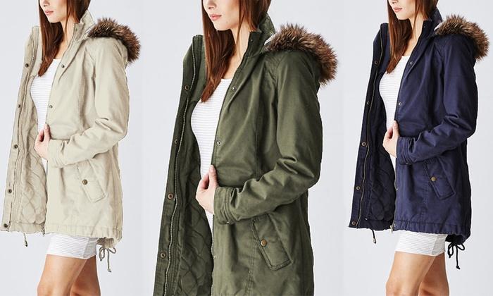 Cotton Parka Jacket Womens