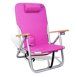 JGR Copa 4 Position Outdoor Aluminum Backpack Chair - Pink