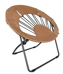 Impact Instant Canopy Bungee Chair Folding Dorm Lounge Chair - Brown