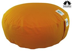 Zafu Organic Cotton Meditation Pillow- Orange Saffron - Size: Large 18""