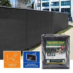 Privacy Fence Screen 85% (6 ft. x 50 ft., Black)