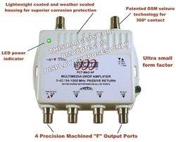 PCT 4 Port Cable TV / HDTV / Digital Drop Amplifier (PCT-MA2-4P)