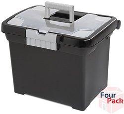 Sterilite 18719004 Portable File Box (4 pack)