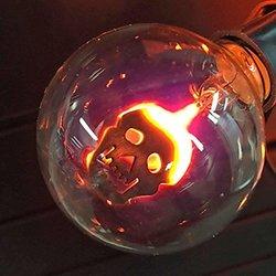 10-light Clear Flicker Bulbs With Skull Design Light Set