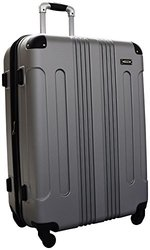 Kemyer Series 650 Hardside Luggage Spinner Wheeled 28-inch Suitcase (Silver)