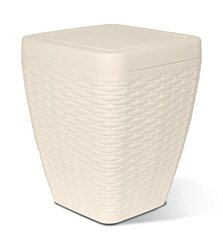 1.63-Gal Square Trash Can Color: Beige