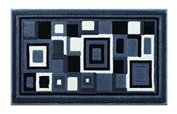 Modern Rug Door Mat 2 Ft. X 3 Ft. 4 In. Grey G 26