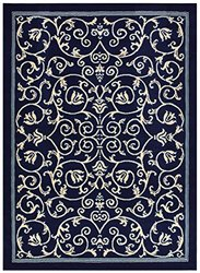"""Rug Style Modern Contemporary Area Rugs - Navy Blue - Size: 4'11"""" x 6'11"""""""