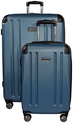 Kenneth Cole Reaction 8 Wheelin Expandable Luggage Spinner Wheeled Suitcase, 2 Pc Set , 29 & 20-inch (Ocean Blue)