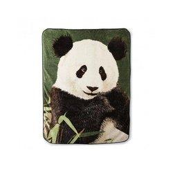Panda Bear and Bamboo Fleece Throw Blanket, 60x80 inches, Super Soft Fleece