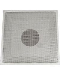 """24"""" x 24"""" T-Bar Drop Ceiling Perforated Return Grill - Metal Back Casing - With 10 """"Collar"""