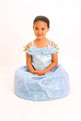 Monika Fashion Cinderella Costume Girls - Blue - Size: S (4-6)