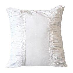 "Euro Pillow And Euro Sham Almost White: 26"" x 26"". Soft Cotton Design."