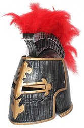 OliaDesign Middle Ages Crusader Helmet - Gold/Red - Size: One