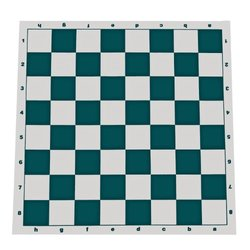 Tournament Roll Up Chess Board, Vinyl with Green Squares
