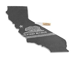 Artaste California State Slate Cheese Board and Soapstone Chalk - (28621)