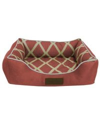 "Comfy Pooch Meggie Pet Bed Color: Spice, Size: Small (20"" L x 16"" W)"
