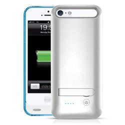 MOTA Extended Battery Case iPhone 5, 5S- iPhone White, Clear, Blue AP5-30B