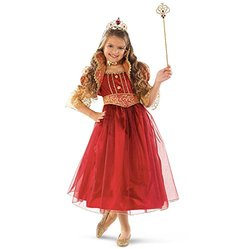 Red and Gold Princess Child Costume - Large