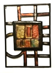 Raw Hammerd Metal Wall Sculpture Abstract Geometric - Do It Your Self Project