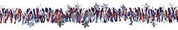 """Amscan Americana Fourth of July Party Tinsel Garland Decoration, Multi Color, 16.5 x 15.3"""""""