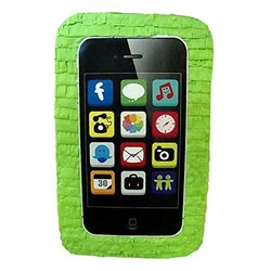 """Aztec 21"""" x 13"""" x 5"""" Cell Phone Party Pinata - Lime Green"""