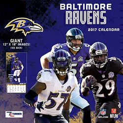 2017 12x12 Team Wall Calendar- Baltimore Ravens