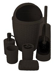 Palm Luxe Bathroom Set (Brown)