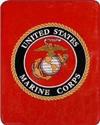 "Marine Corps Seal Sherpa Throw Blanket (Emblem, Sherpa Throw 50"" X 60"")"