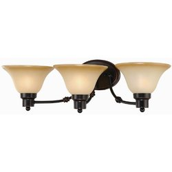 Hardware House Bristol Series 3 Light Oil Rubbed Bronze 24-1/2 Inch by 7-1/2 Inch Bath / Wall Lighting Fixture : 16-7307