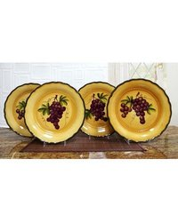 "Tuscany Grape 10"" 4 Piece Dinner Plate Set"