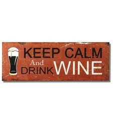 """Adeco SP0227 Vintage Decorative Wall Plaque Saying """"Keep Calm and Drink Beer"""" Home Decor"""