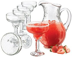 Libbey 5786YS6 7-Piece Yucatan Margarita Pitcher with Glass Set, Clear